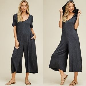 IVY Wide Leg Jumpsuit - CHARCOAL